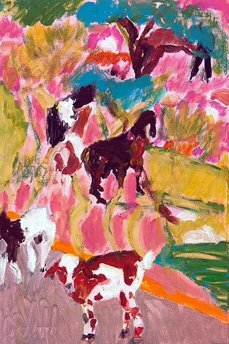 Goats No. 1  2013  Oel auf Leinwand  60 x 40 cm/24 x 16 in