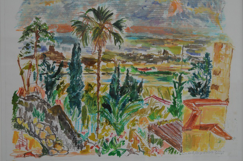 Ein Hod View to the Sea  2013  Aquarell auf Papier  60 x 80 cm/24 x 31 in