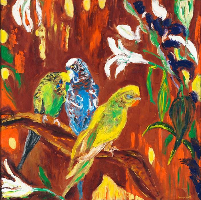 Birds  2011  Oel auf Leinwand  70 x 70 cm/28 x 28 in