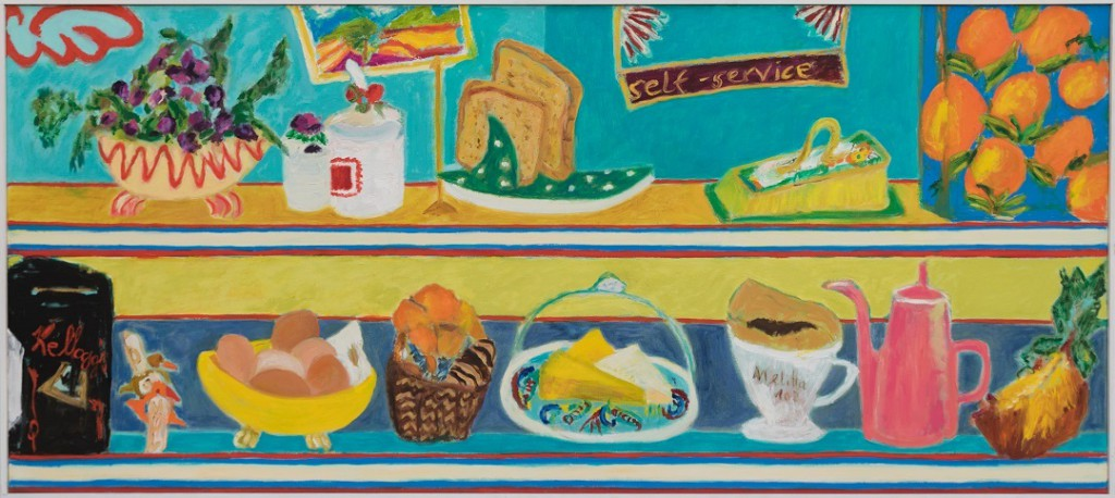 Food Counter  2019  Oel auf Leinwand  80 x 180 cm/32 x 71 in