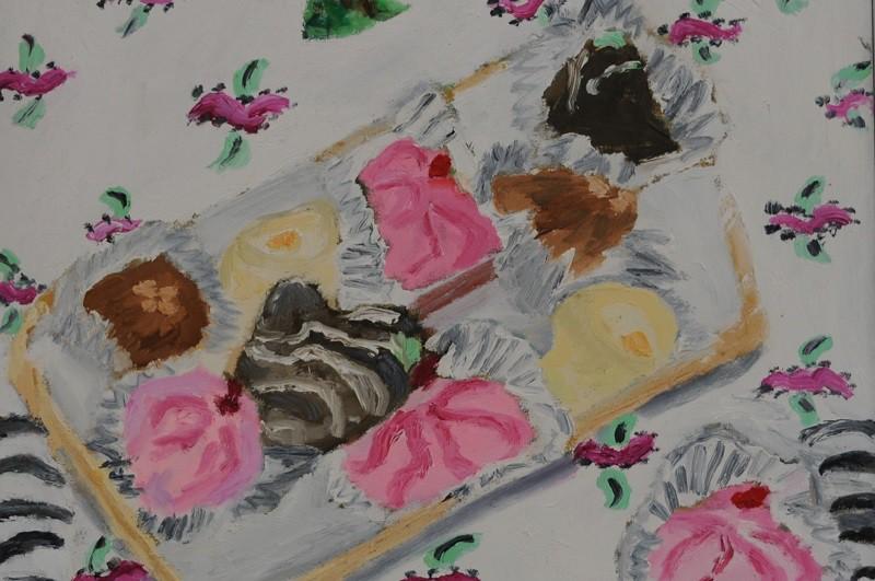 Confection  1999  Oel auf Leinwand  70 x 80 cm/28 x 31 in