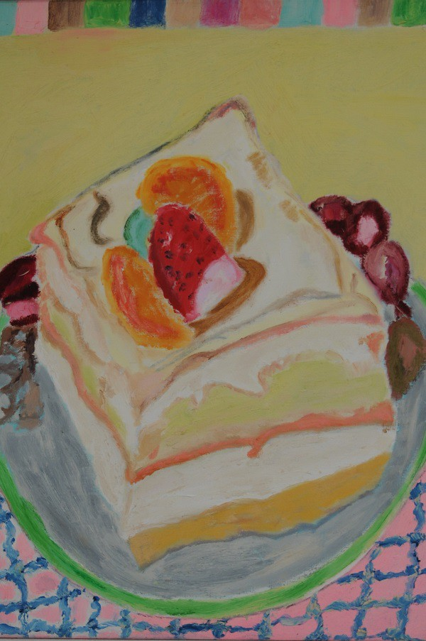 Cream Torte  1998  Oel auf Leinwand  90 x 70 cm/35 x 28 in