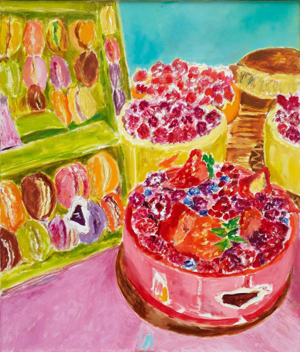 Macarons  2019  Oel auf Leinwand  70 x 60 cm/28 x 24 in