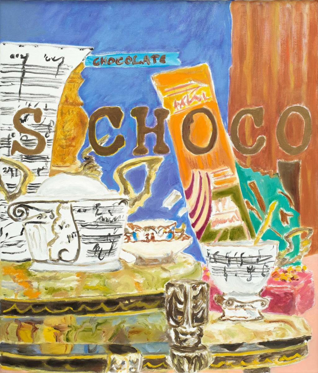 S Choco  2019  Oel auf Leinwand  70 x 60 cm/28 x 24 in