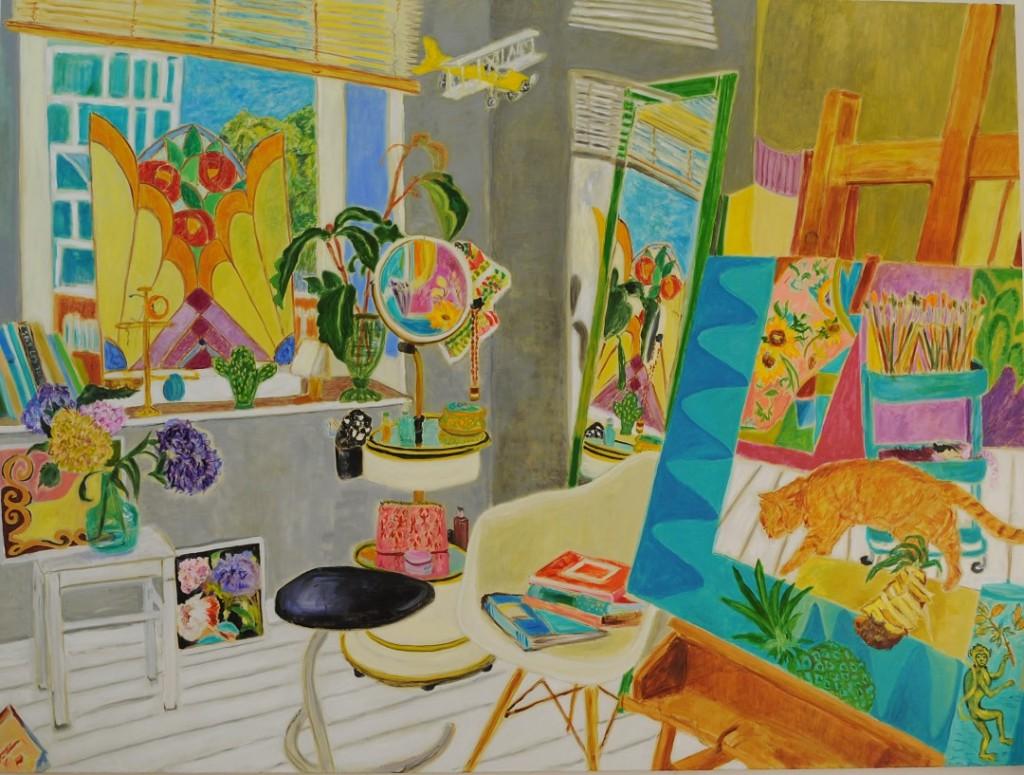 My new studio  2020  Oil on canvas  180 x 240 cm/71 x 94 in