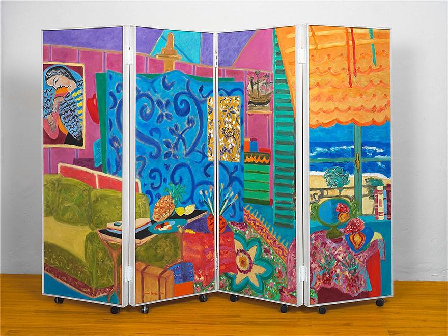 Paravent No. 3 | 2004 |4 parts | each 170 x 60 cm