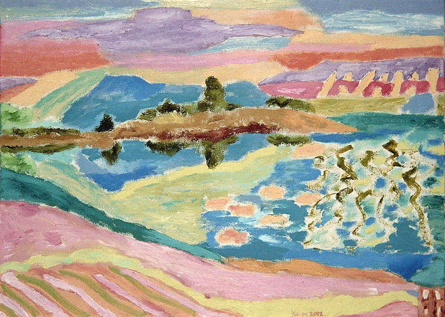 Baie de Quiberon  2002  Oel auf Leinwand  48 x 65 cm/19 x 26 in