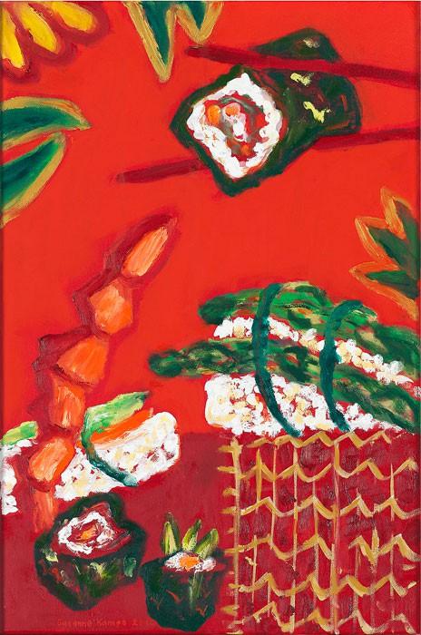 Sushi No. 4  2012  Oel auf Leinwand  60 x 40 cm/24 x 16 in
