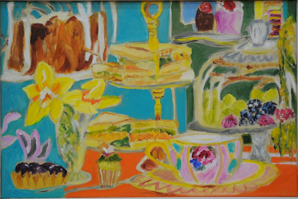Vintage Tea Party  2017  Oel auf Leinwand  40 x 60 cm/16 x 24 in