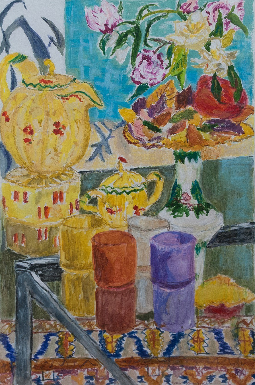 Tea Time  2015  Gemischte Media auf Papier  100 x 70 cm/40 x 28 in