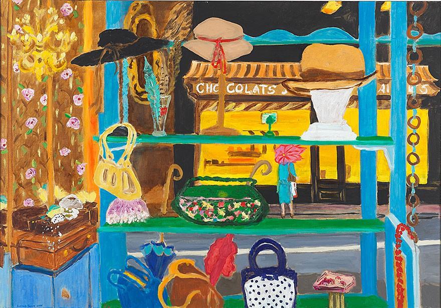 Parapluie (Umbrella) 2008  oil on canvas  81 x 116 cm/32 x 46 in