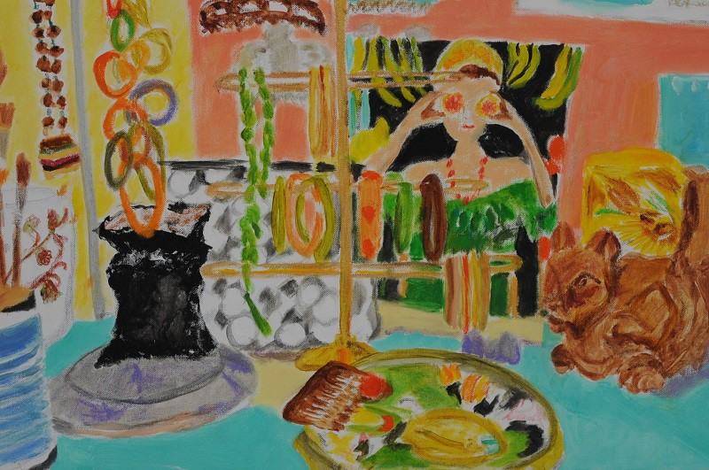 WIndow Shopping  2019  Oel auf Leinwand  40 x 60 cm/16 x 24 in