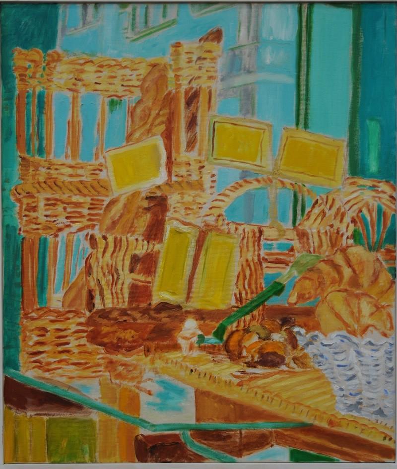 Boulangerie  2019  Oel auf Leinwand  70 x 60 cm/28 x 24 in