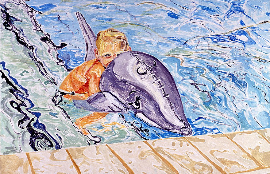 Child with dolphin | 2000 | 150 x 200 cm