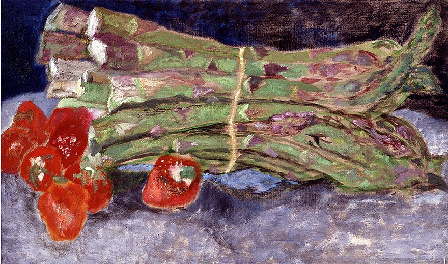 Asparagus with strawberries | 1997 | 65 x 110 cm